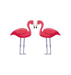 pink flamingos icon vector image