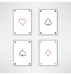 set of playing cards ace icons in clean and vector image