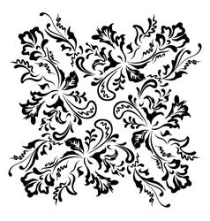 Black floral swirling ornament vector image vector image