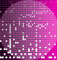 Circles black and purple background vector image