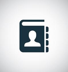 contact book icon vector image
