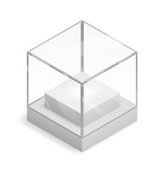 glass isometric isolated box 3d realistic shop vector image