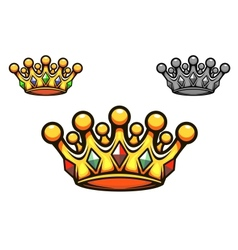 Luxury gold crown vector image vector image