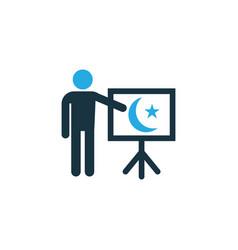 teaching colorful icon symbol premium quality vector image vector image