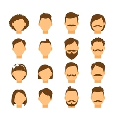 Women hairstyle and men hair style hipster vector image