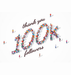 100k followers group business people vector