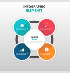 abstract circle business infographics elements vector image