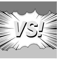 Abstract fight monochrome comic concept vector