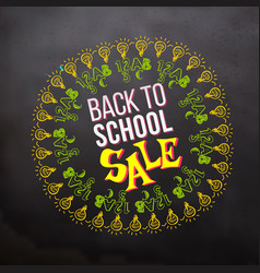 Back to school sale in sketch frame vector