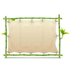 Bamboo frame with canvas vector