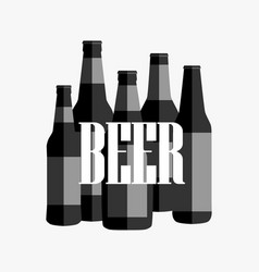 Beer poster with black and white text vector