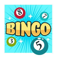 bingo game gambling club isolated icon balls with vector image