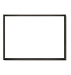 blank black wooden frame a4 template vector image