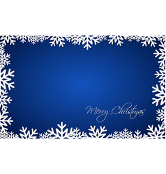 blue christmas gift card merry christmas vector image