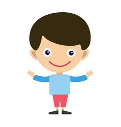 Boy portrait fun happy young expression cute vector