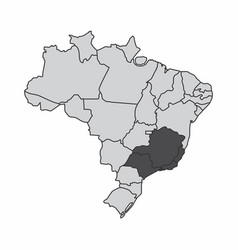 Brazil southeast region vector