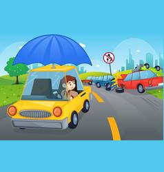 car insurance concept vector image