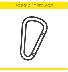 Carabiner linear icon vector