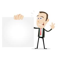Cartoon businessman vcard vector