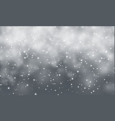 Christmas snow falling snowflakes on dark vector