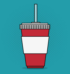 Cinema soda drink entertainment icon vector
