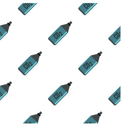Co2 bottle pattern flat vector