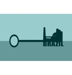 concept of a key Brazil vector image