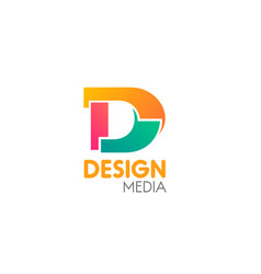 design media sign vector image