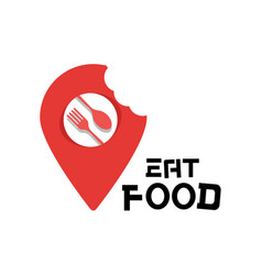 eat food logo food point background image vector image