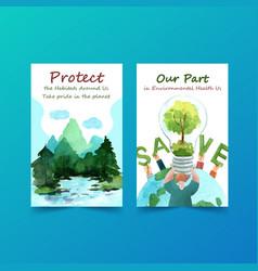 Ebook template design for world environment vector