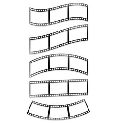 Filmstrips film frames with different distortions vector