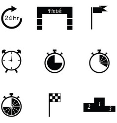 finish icon set vector image