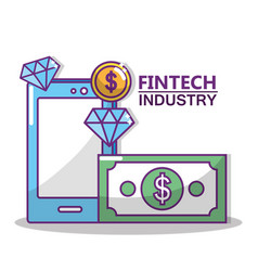 fintech industry design vector image
