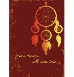 Fire dream catcher vector