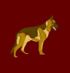 flat shading style icon german shepherd vector image
