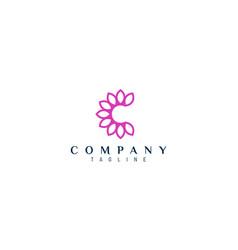 Floral c letter design suitable for beauty logo vector