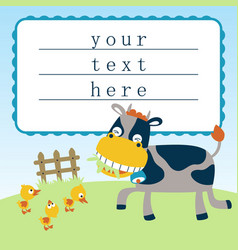 funny farm animals cartoon vector image