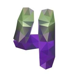 Geometric crystal digit 4 vector