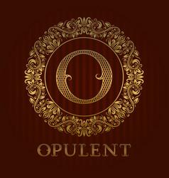 golden logo template for opulent boutique vector image