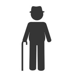 Grandfather eld pictogram icon vector