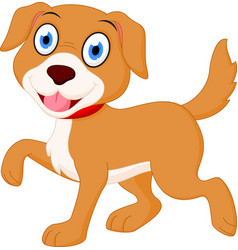 Happy dog cartoon vector