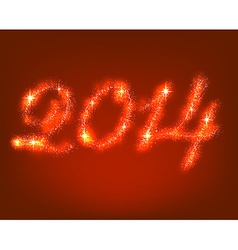 Happy new 2014 year vector image