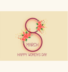 Happy womens day 8th of march design background vector