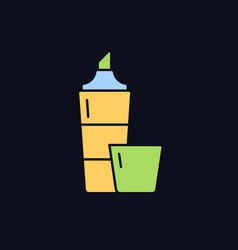 Highlighter rgb color icon for dark theme vector