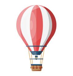 Hot air balloon isolated on white vector