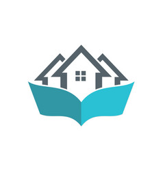 House book logo vector