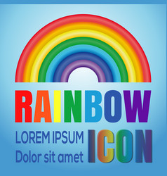 image of the rainbow against a blue sky vector image
