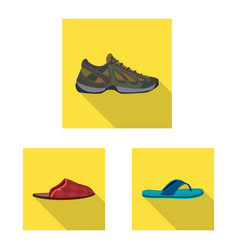 Isolated object of shoe and footwear sign vector