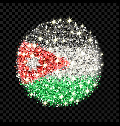 Jordan flag sparkling badge vector