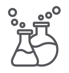 lab glassware line icon science and laboratory vector image